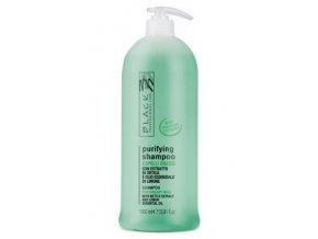 BLACK Purifying Shampoo 1000ml - šampon pro mytí mastných vlasů