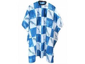 DUKO Pláště Kadeřnický střihací plášť modro-bílý