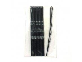 DUKO Pomůcky Kadeřnické sponky na vlasy 6cm - černé 10ks