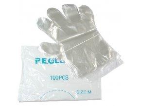 Kadeřnické pomůcky Jednorázové igelitové rukavice 100ks