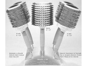 OLIVIA GARDEN Pro Mega C - Profesionální keramické kartáče na vlasy - Display 6ks