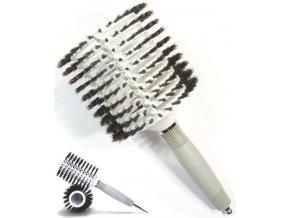 OLIVIA GARDEN Pro Mega C - Profesionální kartáč na vlasy štětinový kulatý VENT