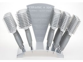 OLIVIA GARDEN Pro Turbo Vent - Foukací kartáče na vlasy Ceramic Ion duté - Display 18ks