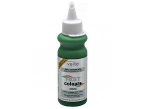 VELLIE Zelená Fast Colours gelová barva na vlasy smývatelná - zelená