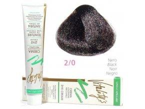 VITALITYS Green Permanentní krémová barva na vlasy - Černá 2-0