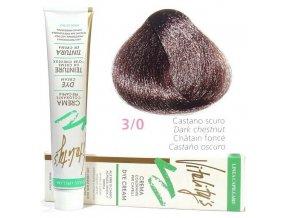 VITALITYS Green Permanentní krémová barva na vlasy - Tmavě hnědá 3-0