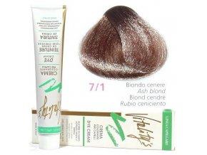 VITALITYS Green Permanentní krémová barva na vlasy - Popelavá blond 7-1