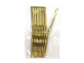 DUKO Pomůcky Kadeřnické sponky na vlasy 6cm - zlaté 10ks