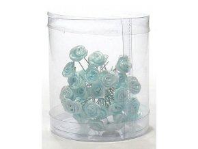 Vlasové ozdoby Vlásenky s růžičkou 50ks - modré