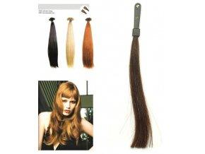 SO.CAP. Rovné vlasy Přírodní odstín 8001LC 35-40cm - kaštanově hnědá 4