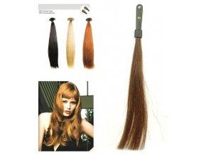 SO.CAP. Rovné vlasy Přírodní odstín 8001LC 35-40cm - tmavě plavá 8