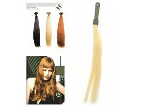 SO.CAP. Rovné vlasy Přírodní odstín 8001LC 35-40cm - platinová blond 1001