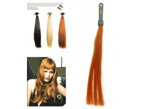SO.CAP. Rovné vlasy Přírodní odstín 8001LC 35-40cm - měděná 130