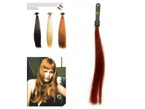 SO.CAP. Rovné vlasy Přírodní odstín 8000L 50-55cm - intenzivně červená 35