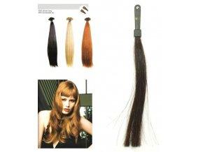 SO.CAP. Rovné vlasy Přírodní odstín 8010XXL 65-70cm - tmavě hnědá 2