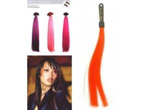 SO.CAP. Rovné vlasy 8009FC 35-40cm Fantazijní odstíny - Dark Orange
