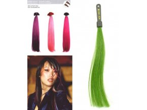 SO.CAP. Rovné vlasy 8009FC 35-40cm Fantazijní odstíny - Acid Green