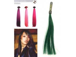SO.CAP. Rovné vlasy 8009FC 35-40cm Fantazijní odstíny - Dark Green