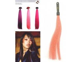 SO.CAP. Rovné vlasy 8009FC 35-40cm Fantazijní odstíny - Pink