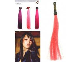 SO.CAP. Rovné vlasy 8009FC 35-40cm Fantazijní odstíny - Dark Pink
