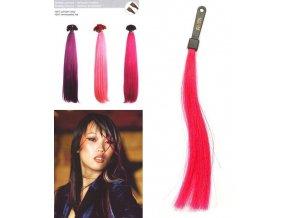SO.CAP. Rovné vlasy 8009FC 35-40cm Fantazijní odstíny - Fuxia