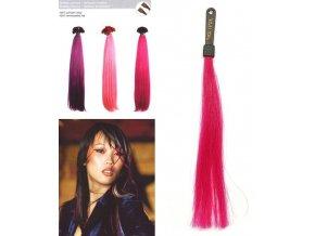 SO.CAP. Rovné vlasy 8009FC 35-40cm Fantazijní odstíny - Dark Fuxia