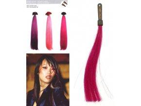 SO.CAP. Rovné vlasy 8009FC 35-40cm Fantazijní odstíny - Reddish Violet