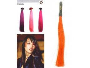 SO.CAP. Rovné vlasy 8006F 50-55cm Fantazijní odstíny - Orange