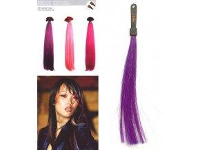 SO.CAP. Rovné vlasy 8006F 50-55cm Fantazijní odstíny - Violet