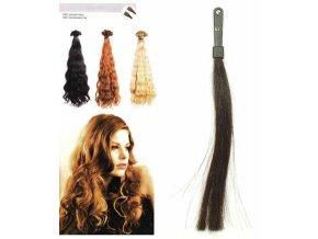 SO.CAP. Vlnité vlasy Přírodní odstín 8003MC 35-40cm - tmavě hnědá 2