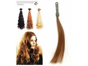 SO.CAP. Vlnité vlasy Přírodní odstín 8003MC 35-40cm - světle hnědá 10