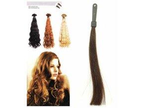 SO.CAP. Vlnité vlasy Přírodní odstín 8002M 50-55cm - kaštanově hnědá 4