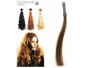 SO.CAP. Vlnité vlasy Přírodní odstín 8002M 50-55cm - středně hnědá 6