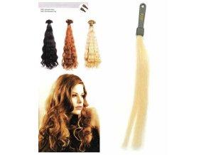 SO.CAP. Vlnité vlasy Přírodní odstín 8002M 50-55cm - platinová blond 1001