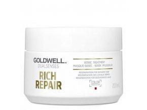 GOLDWELL Dualsenses Rich Repair 60sec Treatment pro lámavé vlasy 200ml
