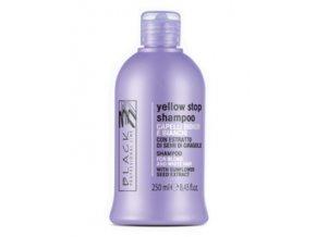 BLACK Yellow Stop Shampoo 250ml - šampon pro melírované a šedivé vlasy