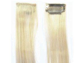 SO.CAP. Original 40cm synt. prameny vlasů na 3cm sponě - 140 popelavá blond