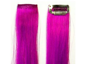 SO.CAP. Original 40cm synt. prameny vlasů na 3cm sponě - Viola fialová