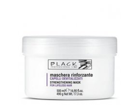 BLACK Péče o vlasy Posilující maska pro oslabené, vlnité nebo krepaté vlasy 500ml