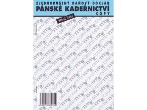 KADEŘNICTVÍ Pánské kadeřnictví - zjednodušený daňový doklad - blok 50x2listy