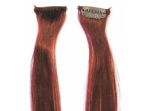 SIMPLY PERFECT Trendy 4ks - Prameny vlasů Human Hair 47cm na sponě - 350 měděná