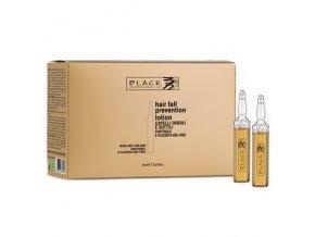 BLACK Hair Lotion Pantenolo Placenta 12x10ml - Vlasové sérum proti vypadávání vlasů s placentou