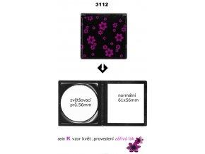 DUKO Kosmetika Skládací kadeřnické zrcátko do kabelky oboustranné - serie K vzor květ