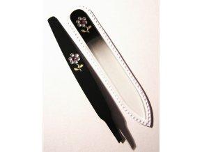 BOHEMIA CRYSTAL SET Swarovski - skleněný pilník 90mm + šikmá pinzeta 97mm - černá