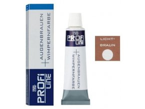 PROFI LINE Barvy Profesionální barva na řasy a obočí - Světle hnědá