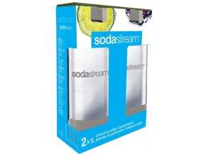 SODASTREAM 1l GREY Duo Pack náhradní praktická plastová láhev na sodu - 2ks