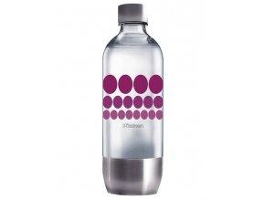SODASTREAM PURPLE METAL 1l náhradní plastová láhev na sodu s nerezovým dnem