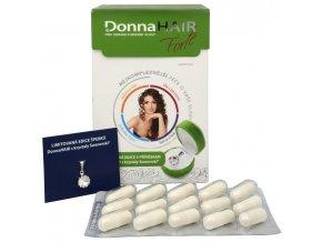 DONNA HAIR Vitamíny na vlasy proti vypadávání vlasů - tob.90 Forte + přívěšek zdarma