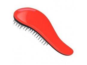 DTANGLER Profesionální kartáč na rozčesávání vlasů s rukojetí - černo červený