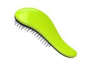 DTANGLER Profesionální kartáč na rozčesávání vlasů s rukojetí - černo zelený